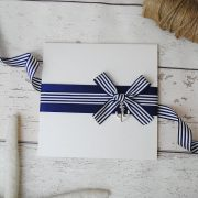 nautical pocketfold wedding invitation