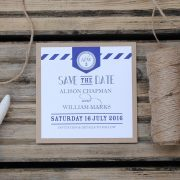 nautical save the date in navy