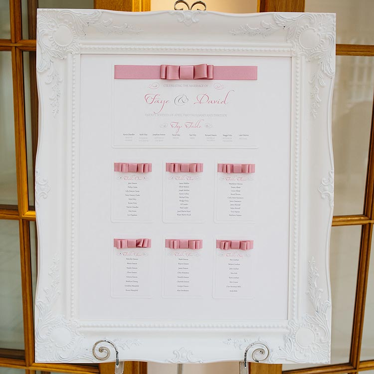 Luxury Handmade Wedding Table Plan UK | Wedding Invitation Boutique
