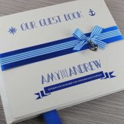Nautical Guest Book in Royal Blue