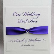 Wedding Post Box in Cadbury Purple