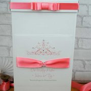 Wedding post box in coral