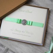 Wedding Guest Book in Mint Green