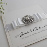 Wedding invitation with Pearl Embellishment