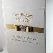 wedding post box in gold