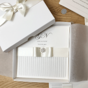 Coco Mono Boxed Wedding Invitation