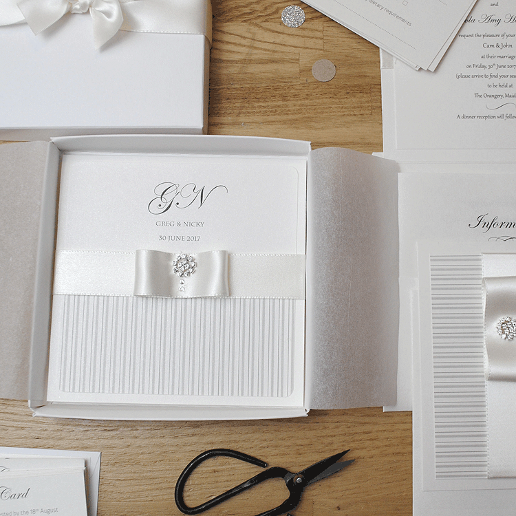 Personalised Folded Wedding Invitations Uk Ribbon Wedding