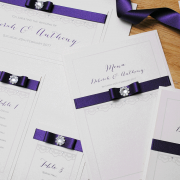 Cadbury Purple Menu and Table Plan