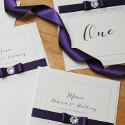 Cadbury Purple Menu and Place Card